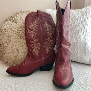 Rampage Red cowgirl boots-never worn